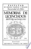 Memorias de licenciados