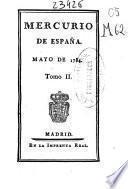 MERCURIO DE ESPANA, MAYO DE 1784