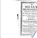 Mesue defendido y respuesta al preliminar de D. Felix Palacios