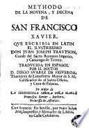 Methodo de la novena y decena de San Francisco Xavier
