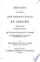 Método para aprender a leer, escribir y hablar el inglés