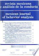Mexican journal of behavior analysis