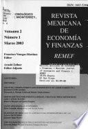 Mexican Journal of Economics and Finance