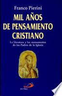 MIL AÑOS DE PENSAMIENTO CRISTIANO