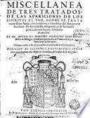 Miscellanea de tres tratados