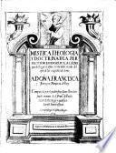 Mistica theologia y doctrina de la perfection evangelica