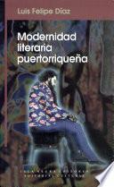 Modernidad literaria puertorriqueña