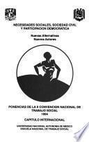 Necesidades sociales, sociedad civil y participación democrática