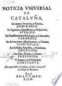Noticia universal de Cataluna
