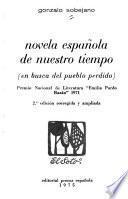Novela española de nuestro tiempo