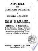 Novena del glorioso príncipe y sagrado arcangel San Rafael