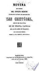Novena en honor del invicto mártir é inclito patrón de Barcelona San Cristóbal