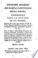Novenario doloroso de María Santísima... Sermones para la Novena de sus Dolores, sacados de la obra que escribió Fr.M.Guardiola y Rueda