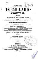 Novísimo formulario magistral