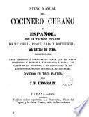 Nuevo manual del cocinero cubano y español