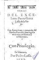 Obra ... Con anotaciones y enmiendas del Maestro F. Sanchez, etc