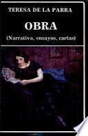 Obra (narrativa, ensayos, cartas)