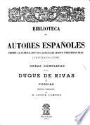 Obras completas del Duque de Rivas