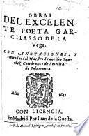 Obras ; con anotationes y emiendas de Francisco Sanchez