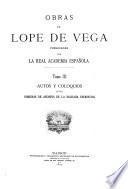 Obras de Lope de Vega ; publicadas por la Real Academia Española: Autos y coloquios (fin)