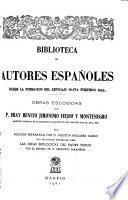 Obras escogidas del padre fray Benito Jerónimo Feijoo y Montenegro