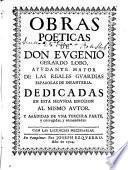 Obras poeticas de don Evgenio Gerardo Lobo ...