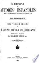 Obras publicadas é inéditas de Gaspar Melchor de Jovellanos