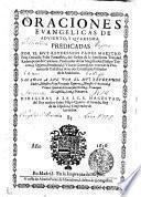 ORACIONES EVANGELICAS DE ADVIENTO, Y QUARESMA