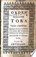 Orden de leccion de Tora Nebiim y Quetubim