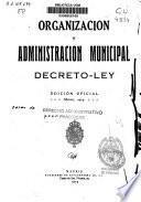 Organización y administración municipal