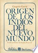 Origen de los indios del Nuevo Mundo
