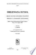 Origene E la Tradizione Alessandrina