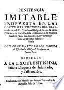 Penitencia imitable