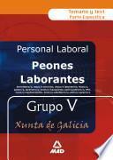 Peones Laborantes de la Xunta de Galicia Grupo V . Temario Y Test.e-book.