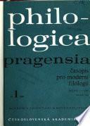 Philologica Pragensia