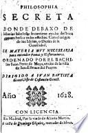 Philosophia Secreta Donde Debaxo De historias fabulosas se contiene mucha doctrina ... Con el origen de los Idolos, o Dioses de la Gentilidad (etc.)