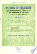 Pleitos de hidalguía que se conservan en el Archivo de la Real Chancillería de Valladolid