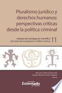 Pluralismo jurídico y derechos humanos: perspectivas críticas desde la política criminal