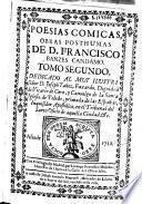 Poesías cómicas, obras pósthumas de D. Francisco Banzes Candamo