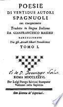 Poesias de veinte i dos autores españoles del siglo 16