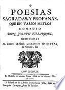 Poesias sagradas y profanas