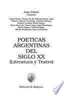Poéticas argentinas del siglo XX