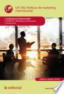 Políticas de marketing internacional. COMM0110