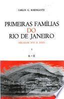 Primeiras famílias do Rio de Janeiro: A-E