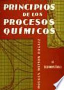 Principios de los procesos químicos. Termodinámica