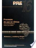 Procesos de paz en África