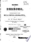 Prolegómenos del derecho o introducción general al estudio de la ciencia legislativa