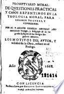 Promptuario moral de questiones practicas y casos repentinos en la teologia moral