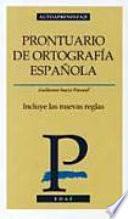 Prontuario de ortografía española