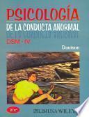 Psicología de la conducta anormal